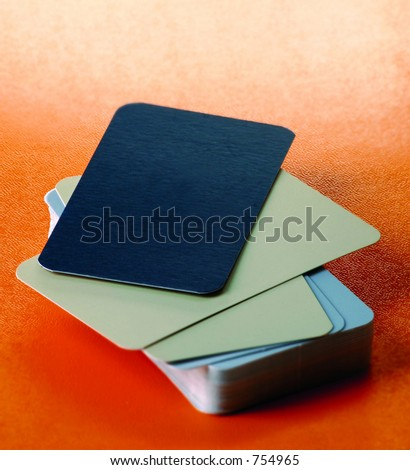 Blank business cards - stock photo