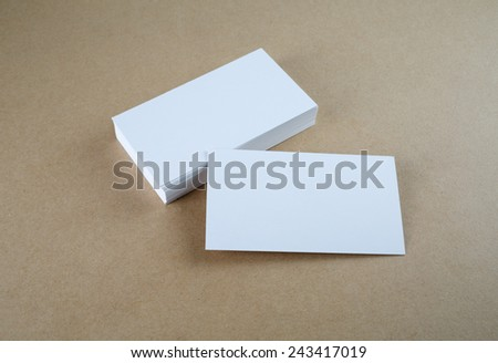 Blank business cards. Mock-up for branding identity. - stock photo
