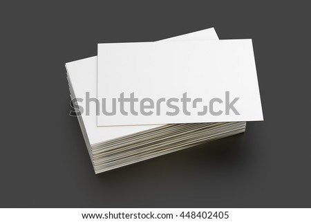 Blank business cards with golden edge on black background. Include clipping path. 3d render