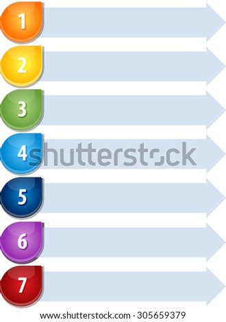 Blank business strategy concept infographic diagram illustration Bullet List Seven