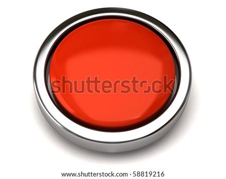 Blank button - stock photo