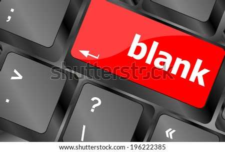 blank button on computer pc keyboard key
