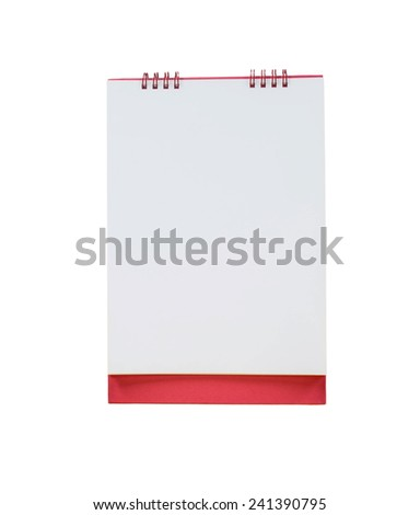 blank calendar isolated on white background - stock photo