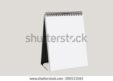 blank calendar on a white background - stock photo