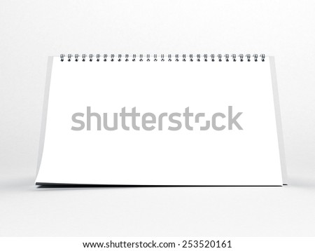Blank calendar on a white background - stock photo