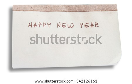 blank calendar paper happy new year