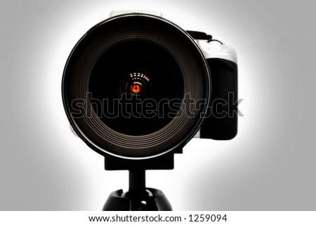 Blank Camera Lens - stock photo