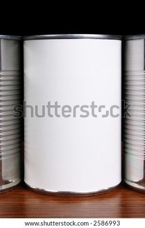 Blank can label awaits your message or graphics. - stock photo