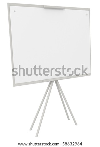 Blank Canvas on an Easel isolated on white - 3d illustration