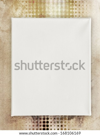blank canvas on art background