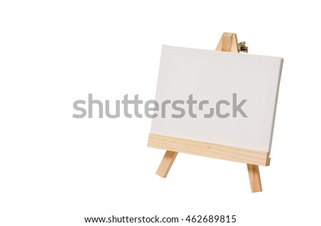 Blank canvas on easel for painting