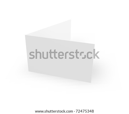 blank card on white background - 3d illustration