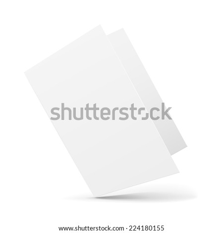 blank card template isolated on white background