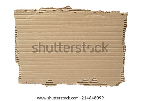 Blank cardboard isolated on white background - stock photo