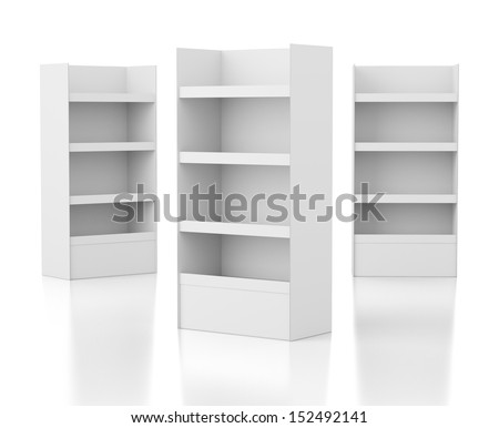 blank carton display stand for products
