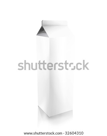 blank carton isolated over a white background
