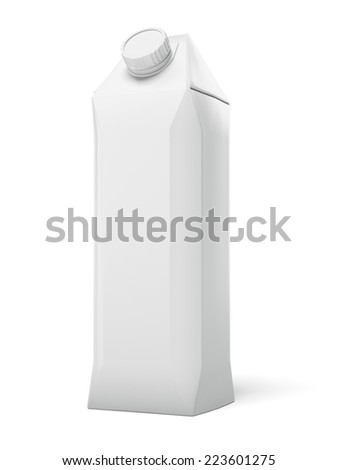 Blank Carton Package  - stock photo