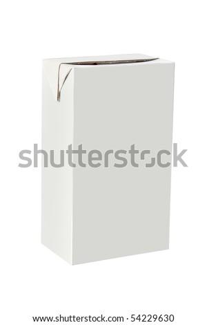 blank carton packaging - stock photo