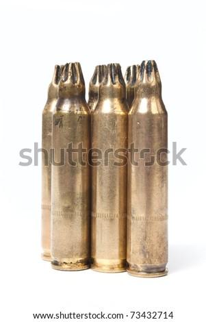 Blank cartridge isolated on white background - stock photo
