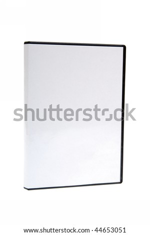 blank case DVD / CD white background