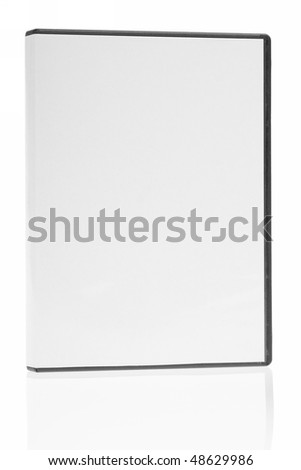blank case DVD / CD white background - stock photo