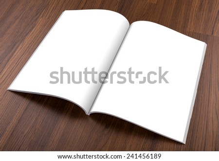 Blank catalog,brochure, magazines,book mock up on wood background