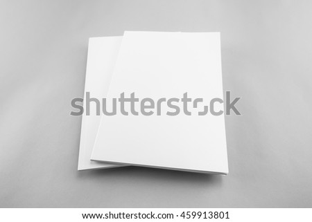 Blank catalog, magazine, book template with soft shadows. Ready for your design.