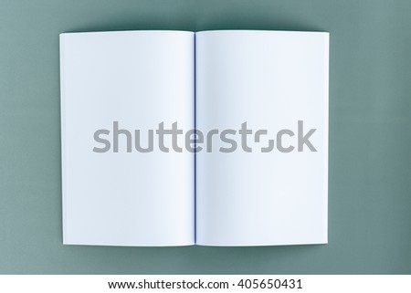 Blank catalog, magazines,book mock up. Isolated on grey cardboard background, with clipping path already included. Background color / content can be changed or replace for your own design as desired. - stock photo