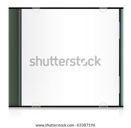 blank cd box - stock photo