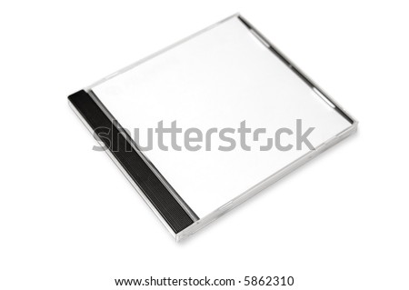 Blank CD case - stock photo