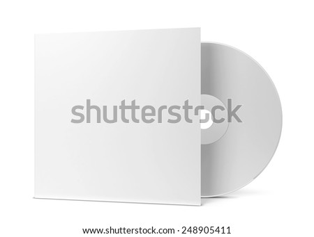 Blank cd cover. 3d illustration isolated on white background - stock photo
