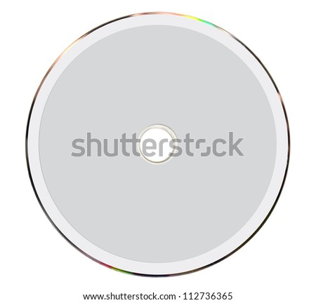 Blank cd cover isolated on white - stock photo