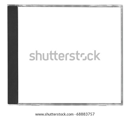 blank cd cover isolated on white background - stock photo
