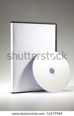 blank cd cover on the palin background - stock photo