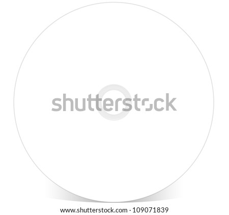 Blank CD DVD BluRay Compact Disk - stock photo