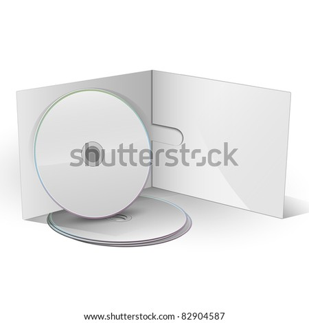 Blank CD DVD in paper case