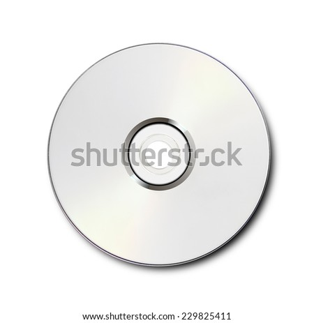 Blank CD/DVD isolated on white
