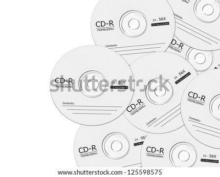 Blank CD isolated on white background. - stock photo
