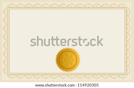 Blank Certificate Template. Eps Version Also Available In Gallery. - stock photo