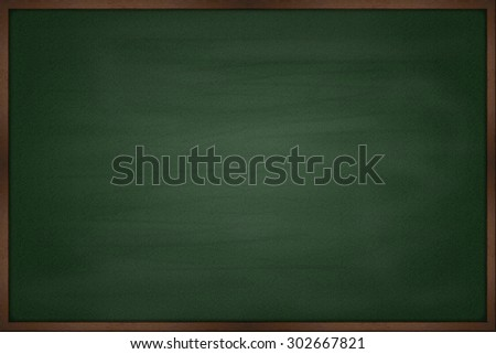 Blank chalkboard blackboard - stock photo
