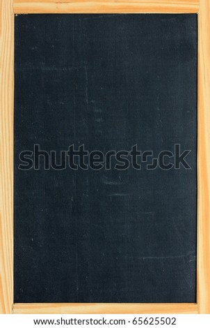 Blank chalkboard in wooden frame - stock photo
