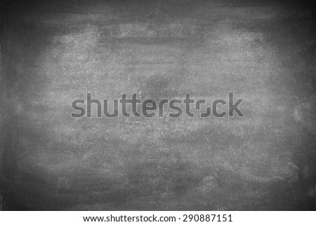 Blank chalkboard or blackboard background, view from top - stock photo
