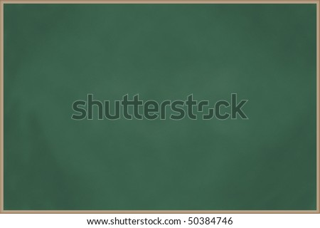 Blank chalkboard with wooden frame - stock photo