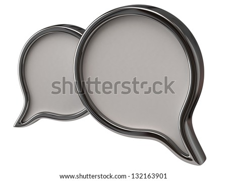 Blank chat icon - stock photo