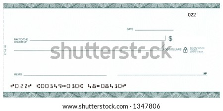 Blank Check (Fake Account) - stock photo