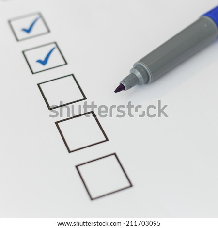 blank checkbox - stock photo