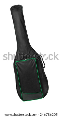Blank classical guitar case isolated - stock photo