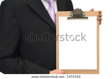 blank clipboard, space for messages