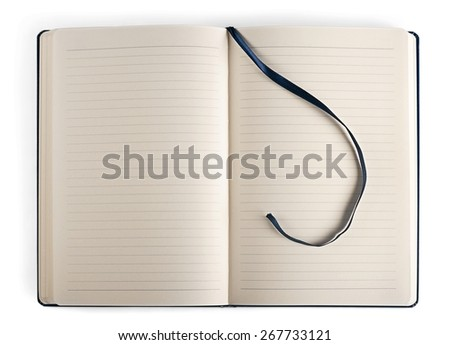 Blank. Close up of a  blank white paper on white background - stock photo