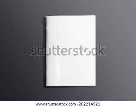 Blank closed brochure photo on dark background to replace your design - stock photo